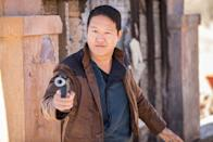 """<p>For your Han Solo look, all you'll need is a jacket or vest, a pair of awesome leather boots and your sarcastic wit. </p><p><a class=""""link rapid-noclick-resp"""" href=""""https://www.amazon.com/Cosplaysky-Mens-Halloween-Costume-X-Large/dp/B01LY07NML/?tag=syn-yahoo-20&ascsubtag=%5Bartid%7C10055.g.29516206%5Bsrc%7Cyahoo-us"""" rel=""""nofollow noopener"""" target=""""_blank"""" data-ylk=""""slk:SHOP VEST"""">SHOP VEST</a></p>"""