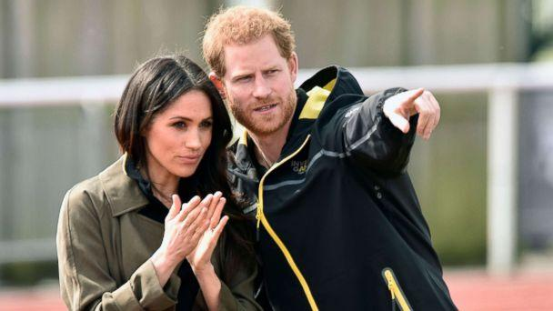 PHOTO: Prince Harry and Meghan Markle visit Bath University, in Bath, Britain, April 6, 2018, to view hopeful candidates for the UK Team Trial for the Invictus Games in Sydney in 2018. (Neil Munns/EPA/REX via Shutterstock)