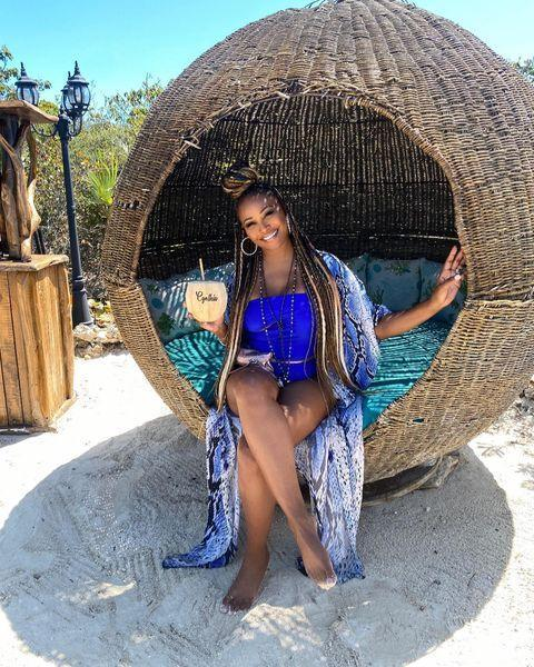 """<p><em>RHOA</em> star Cynthia Bailey swapped out Lake Bailey to enjoy Bailey in paradise and left us with an inspirational quote, """"always bet on u!""""</p>"""