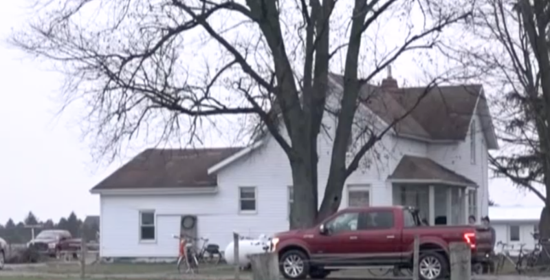 The brothers lived on a farm next to a field, and the pair decided to jump the fence and hide under a truck. Source: WNDU.