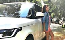Katrina recently added a new top of the line Range Rover to her garage and uses it as her daily ride in Mumbai.