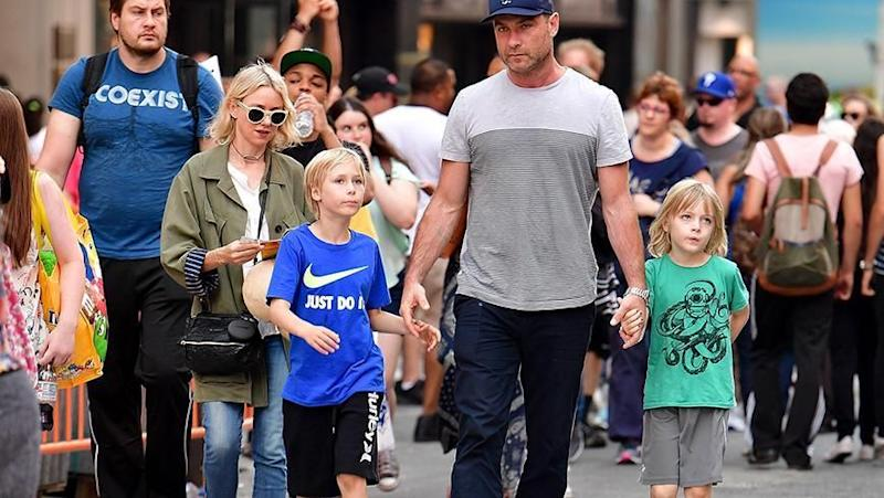 Naomi and Liev with their children. Source: Getty Images.