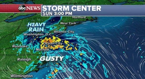 PHOTO: Nestor is now just a classic low pressure system as it moves through the Southeast and towards the mid-Atlantic. (ABC News)