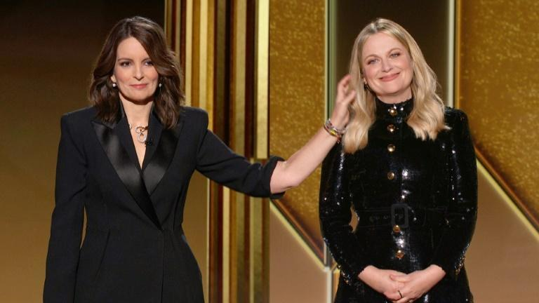 Usually a star-packed, laid-back party that draws Tinseltown's biggest names, this pandemic Golden Globes was broadcast from two venues in New York and Los Angeles, where Tina Fey (L) and Amy Poehler handled host duties (over a split-screen)