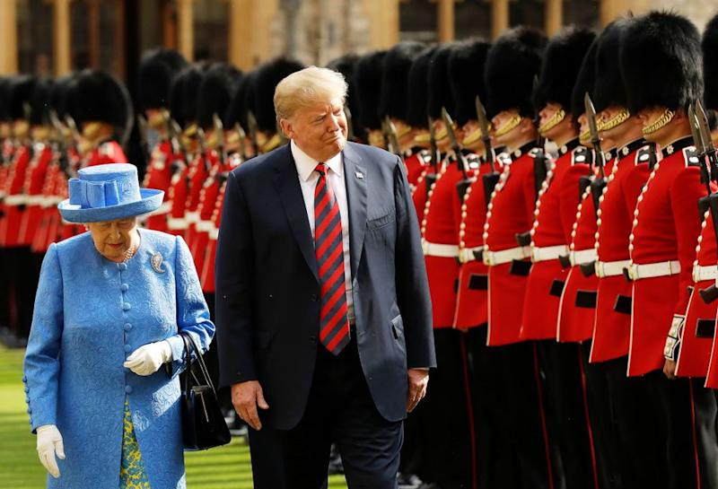Queen Elizabeth and President Donald Trump