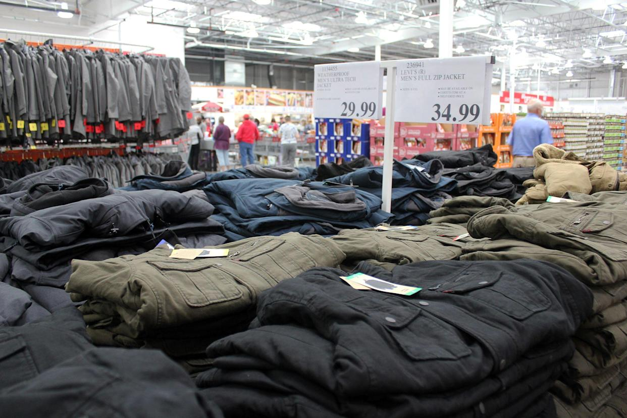 clothing section of Costco