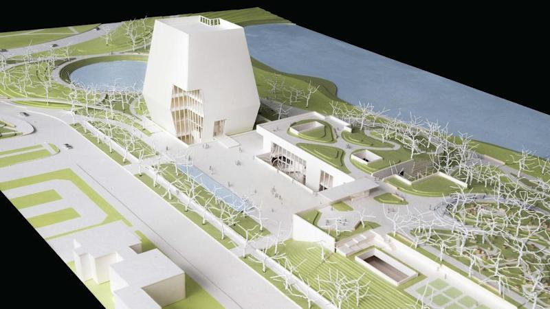 A model of the building plans (Photo: Obama Foundation)