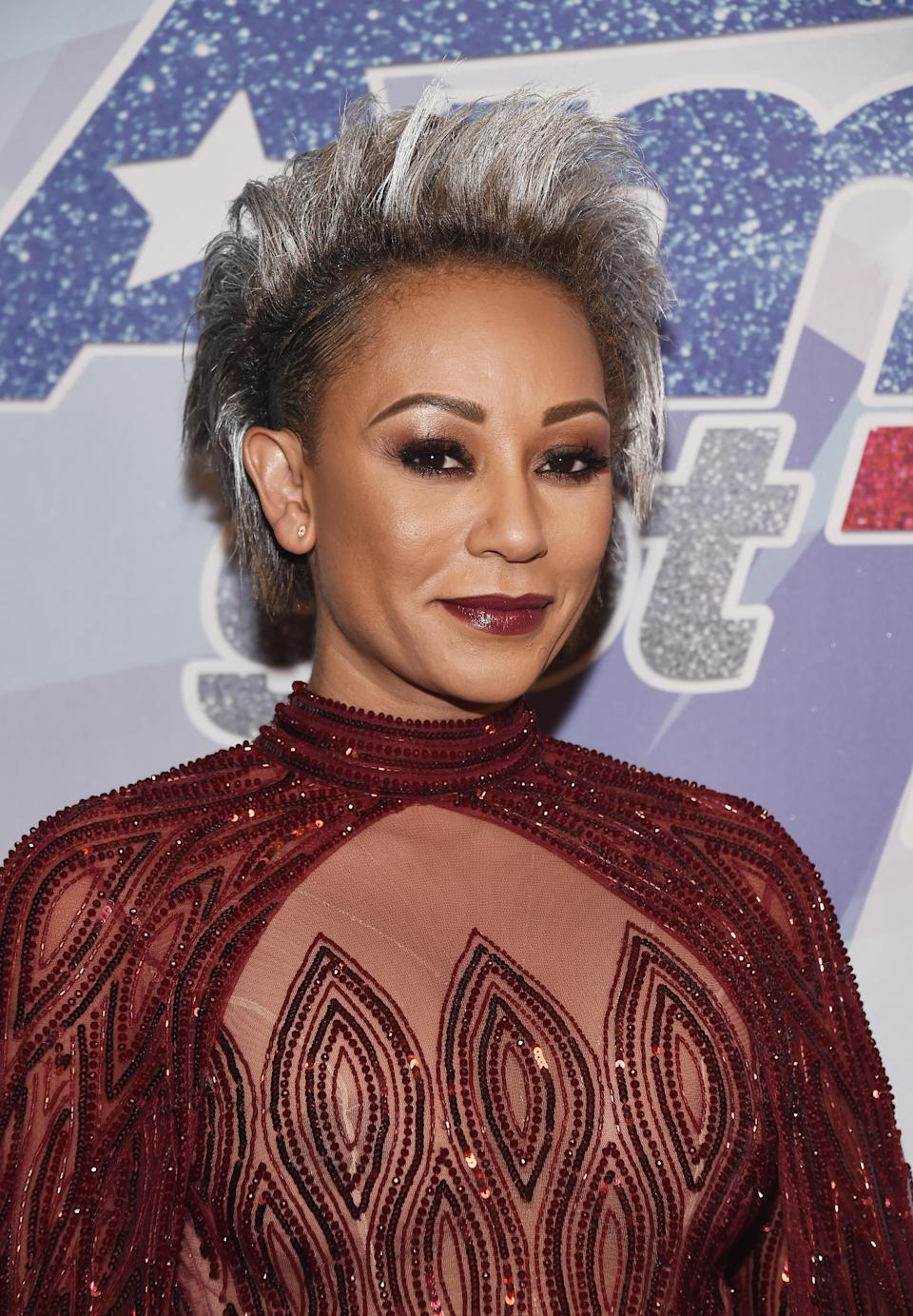<p>Mel B rocks an edgy, silver cropped cut. (Photo: Getty Images) </p>
