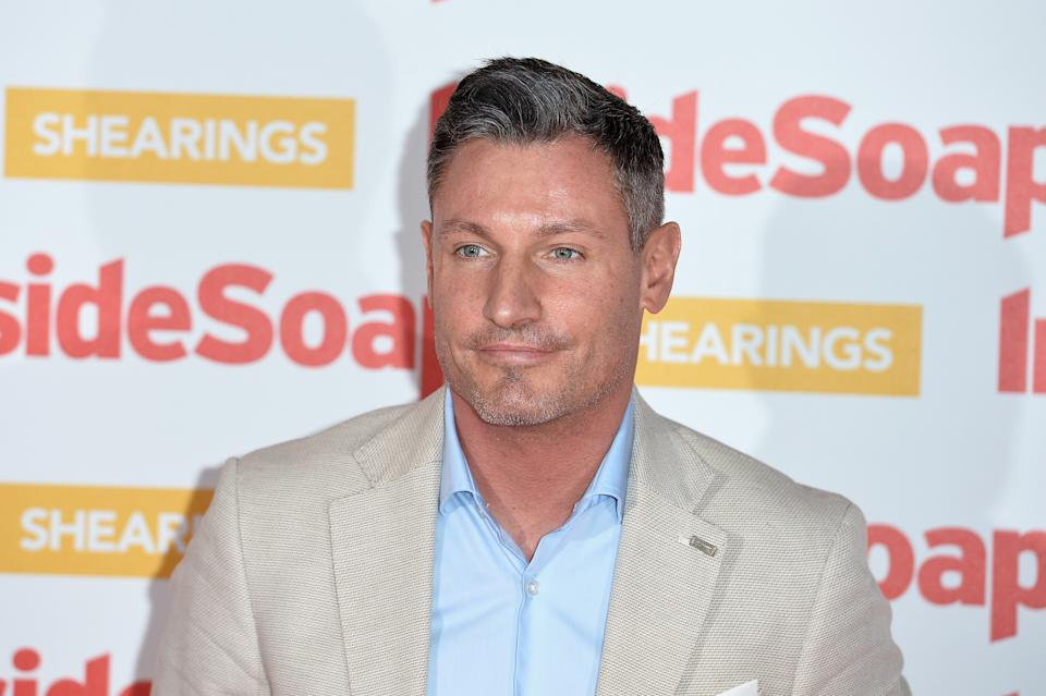 LONDON, ENGLAND - OCTOBER 22:  Dean Gaffney attends the Inside Soap Awards held at 100 Wardour Street on October 22, 2018 in London, England.  (Photo by Jeff Spicer/Jeff Spicer/Getty Images)