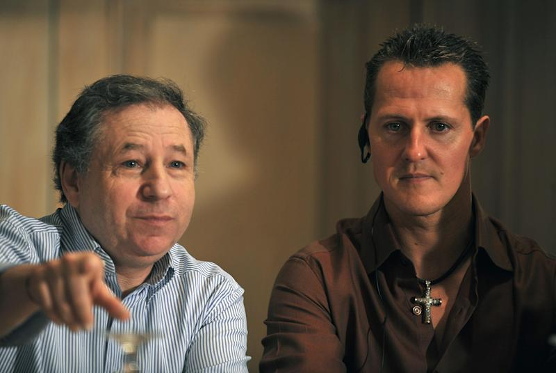 "Jean Todt says that Micheal Schumacher is still ""fighting"" following his accident (Photo credit should read YURI CORTEZ/AFP/Getty Images)"