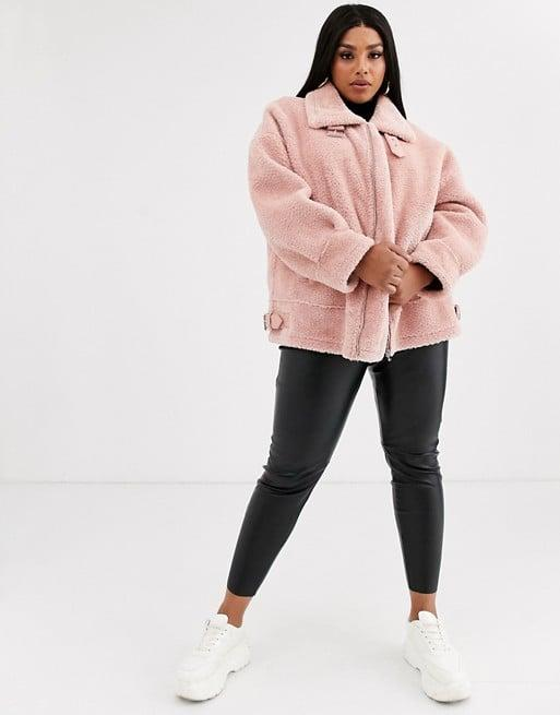 """<p>This <a href=""""https://www.popsugar.com/buy/Missguided-Crushed-Faux-Fur-Aviator-497463?p_name=Missguided%20Crushed%20Faux%20Fur%20Aviator&retailer=asos.com&pid=497463&price=103&evar1=fab%3Aus&evar9=46708574&evar98=https%3A%2F%2Fwww.popsugar.com%2Fphoto-gallery%2F46708574%2Fimage%2F46710663%2FMissguided-Crushed-Faux-Fur-Aviator&list1=shopping%2Cfall%20fashion%2Ccoats%2Cfall%2Ccurve%2Ccurve%20fashion&prop13=api&pdata=1"""" rel=""""nofollow"""" data-shoppable-link=""""1"""" target=""""_blank"""" class=""""ga-track"""" data-ga-category=""""Related"""" data-ga-label=""""https://www.asos.com/us/missguided-plus/missguided-plus-crushed-faux-fur-aviator-in-pink/prd/13563525?clr=pink&amp;colourWayId=16547248&amp;SearchQuery=&amp;cid=9577"""" data-ga-action=""""In-Line Links"""">Missguided Crushed Faux Fur Aviator</a> ($103) is such a fun piece that will definitely turn heads. </p> <p><br></p> <p>Buy now!<br></p>"""
