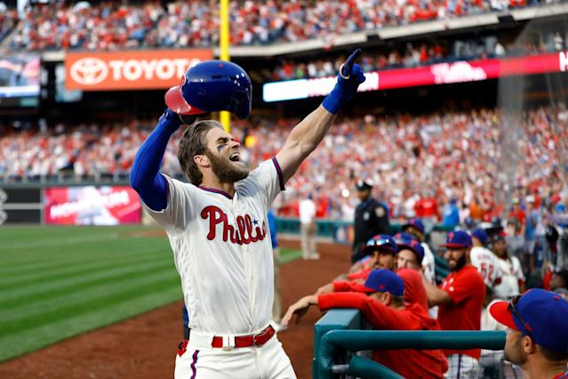 Bryce Harper and the Phillies look like a match made in heaven right now. (AP)