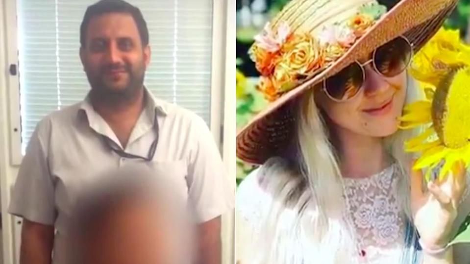 Rajwinder Singh, left, has been described as a 'person of interest' in the death of Toyah Cordingley, right. Source: 7News
