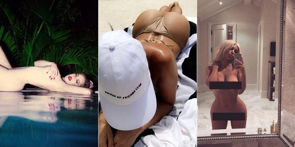 <p>Kourtney, Khloe and Kim Kardashian aren't just renowned for sharing details of their lives on <em>Keeping Up With The Kardashians,</em> but their awesome bodies on Instagram, too. Here's<strong></strong><em></em> 47 times they stripped off for the 'gram. </p>