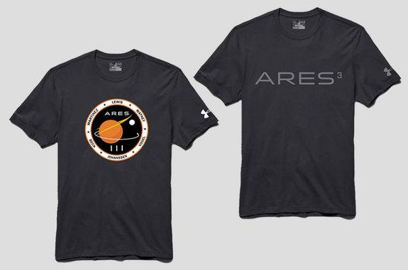 "Sports outfitter Under Armour is now selling ""mission gear"" from ""The Martian,"" including t-shirts like the above."