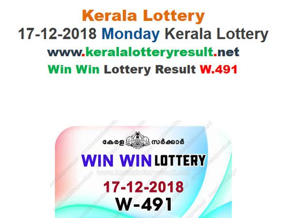 Kerala Lottery Result Today: Win Win W-491 Today Lottery