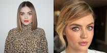 <p>Lucy is REALLY shedding her Aria Montgomery past. She ditched her <em>Pretty Little Liars</em> characters' classic brunette locks and went SUPER blonde. It's a new era, baby! </p>