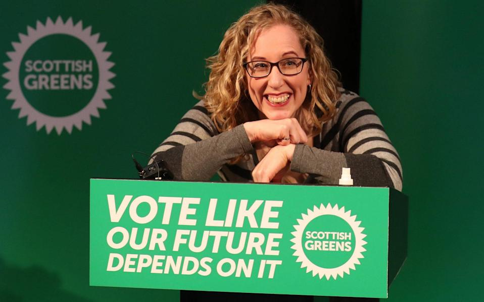 Alex Salmond claimed Lorna Slater of the Scottish Greens was scared to talk about independence - Andrew Milligan/PA