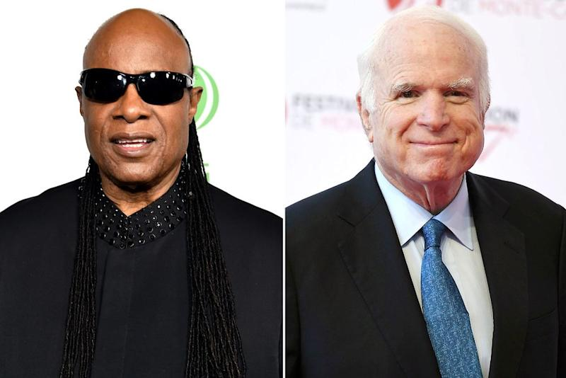 Stevie Wonder and John McCain