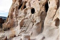 """<p><strong>Bandelier National Monument </strong></p><p><a href=""""https://www.nps.gov/band/index.htm"""" rel=""""nofollow noopener"""" target=""""_blank"""" data-ylk=""""slk:Bandelier National Monument"""" class=""""link rapid-noclick-resp"""">Bandelier National Monument</a> in Los Alamos, New Mexico, is one of the most underrated national sites to visit. Hikers can visit over 3,000 dwelling sites of the ancestral Pueblo people from over 11,000 years ago and can even climb ladders to go inside them.</p>"""