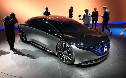 Mercedes-Benz Vision EQS on the Frankfurt stand