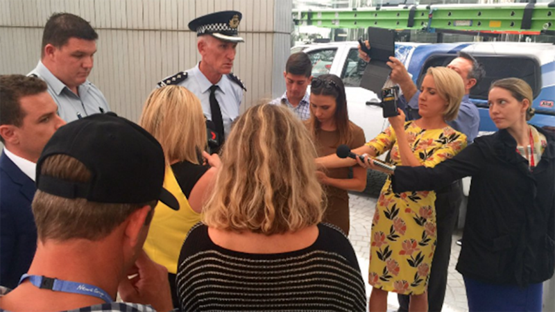 Police confirmed that Mr Turnbull was not at risk when the ceiling collapsed.