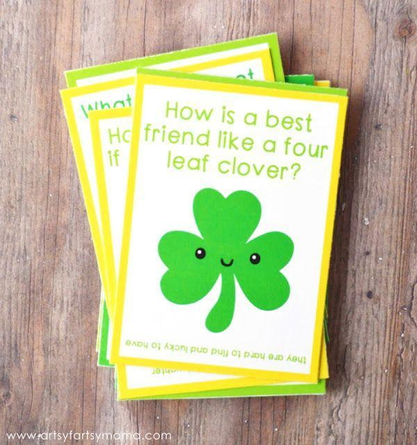 """<p>Brighten your child's day with these silly St. Patrick's Day jokes and riddles that will have them giggling until they get home from school.</p><p><strong>Get the tutorial at <a href=""""https://www.artsyfartsymama.com/2016/02/st-patricks-lunch-day-box-jokes.html"""" rel=""""nofollow noopener"""" target=""""_blank"""" data-ylk=""""slk:Artsy Fartsy Mama"""" class=""""link rapid-noclick-resp"""">Artsy Fartsy Mama</a>.</strong></p><p><strong><a class=""""link rapid-noclick-resp"""" href=""""https://www.amazon.com/Neenah-80944-01-Astrobrights-Colored-Cardstock/dp/B01LX0UJBN/?tag=syn-yahoo-20&ascsubtag=%5Bartid%7C10050.g.4035%5Bsrc%7Cyahoo-us"""" rel=""""nofollow noopener"""" target=""""_blank"""" data-ylk=""""slk:SHOP CARD STOCK"""">SHOP CARD STOCK</a><br></strong></p>"""