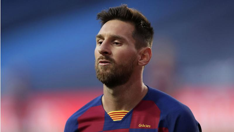 Messi back in Barcelona training for first time since failed attempt to leave