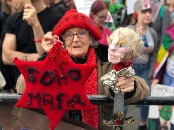 Mary McMillan, who took to the streets with a home made Trump doll (The Independent)