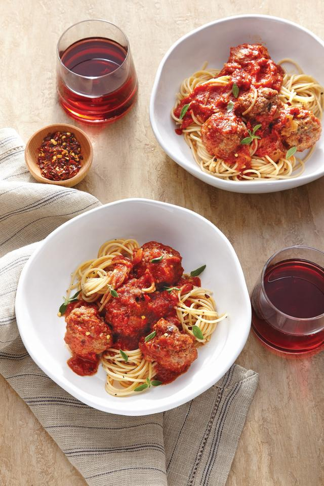 "<p>No more waiting hours for homemade meatballs! Have this <a href=""https://www.myrecipes.com/quick-and-easy"">quick and easy</a> meal on the table for dinner, even on a busy weeknight, in about 30 minutes. </p> <p><a href=""https://www.myrecipes.com/recipe/instant-pot-spaghetti-meatballs-red-wine"">Spaghetti and Meatballs with Red Wine &nbsp; Recipe</a></p>"