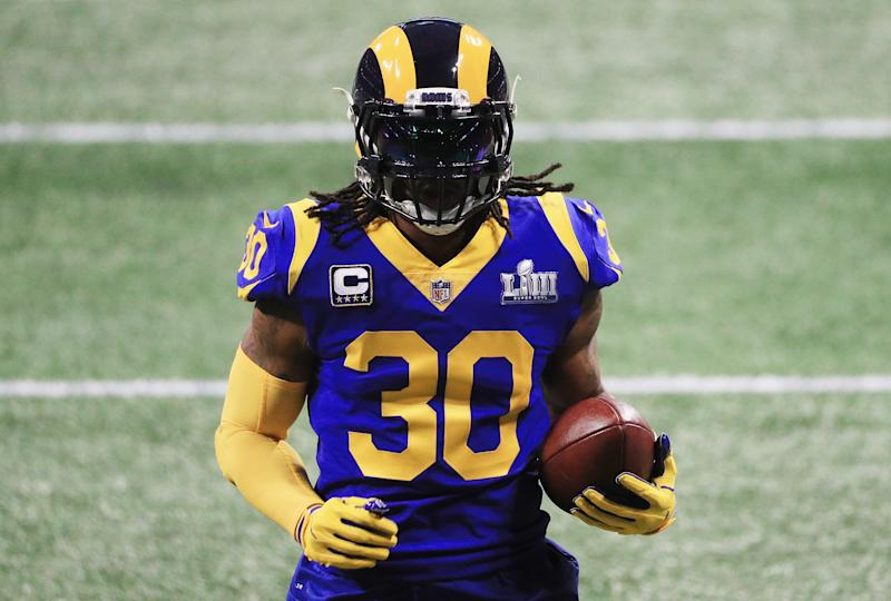 finest selection ba801 5886f Rams insisted Todd Gurley is healthy, yet barely used him in first half of  Super Bowl