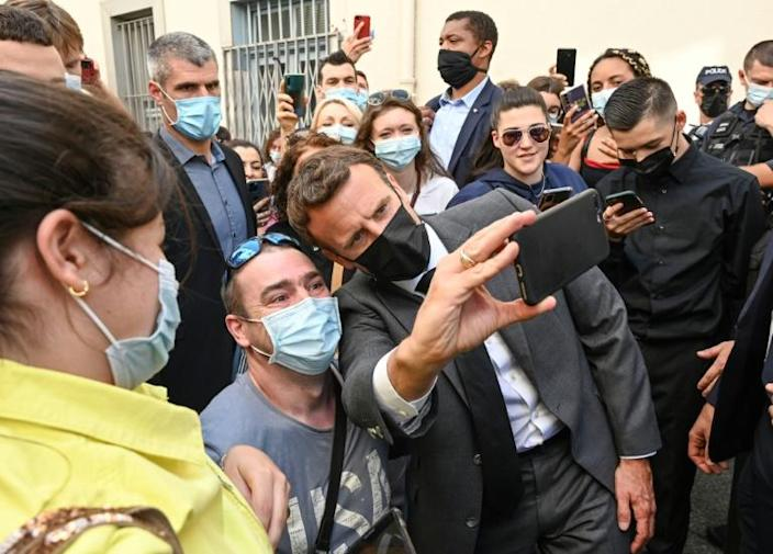 Macronis widely expected to seek a second term in next year's presidential elections
