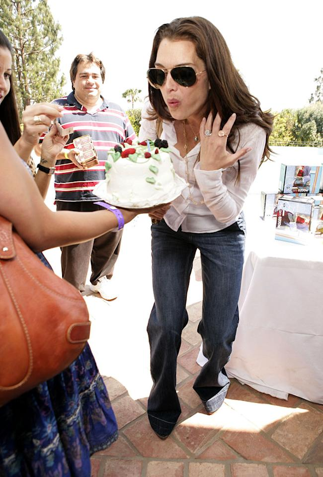 "Brooke Shields celebrating her birthday. Todd Williamson/<a href=""http://www.wireimage.com"" target=""new"">WireImage.com</a> - May 31, 2007"