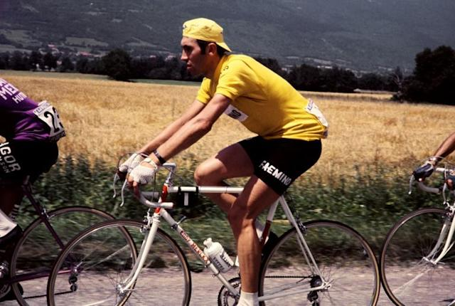 Belgian road cycling great Eddy Merckx, see here in the 1970 Tour de France, has been hospitalized after a fall from his bike aged 74 (AFP Photo/-)