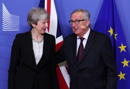 EC President Juncker and British PM May meet in Brussels