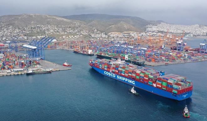 A visit to the port of Piraeus, which is controlled by China's state-owned Cosco, is on the cards for Xi Jinping during his three-day trip to Greece. Photo: Xinhua