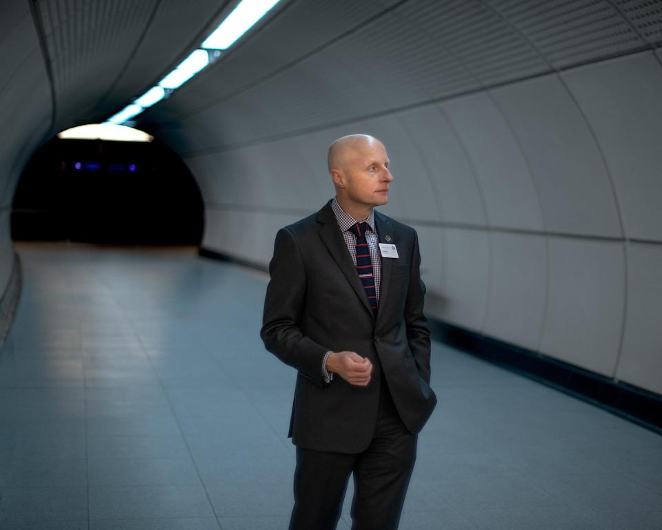 """Byford's first job was as a station foreman for Transport for London; now he's the commissioner<span class=""""copyright"""">Chris Dorley-Brown for TIME</span>"""