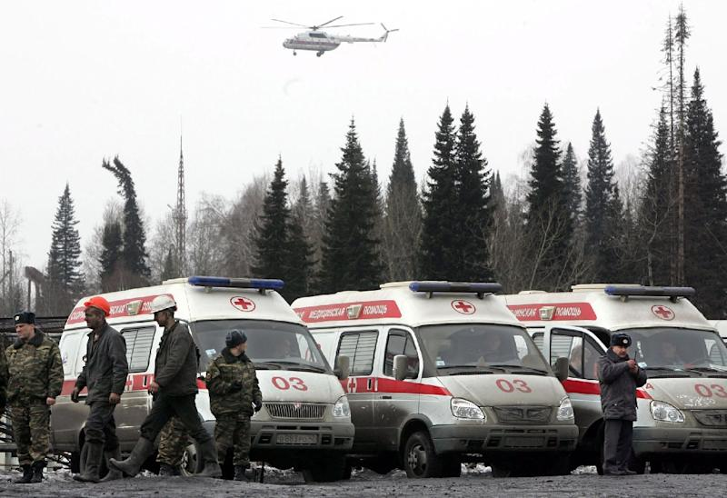 In 2007, 110 people died at the Ulyanovskaya mine in the Kemerovo region, pictured, the country's worst mining accident since the Soviet Union collapsed in 1991 (AFP Photo/Natalia Kolesnikova)