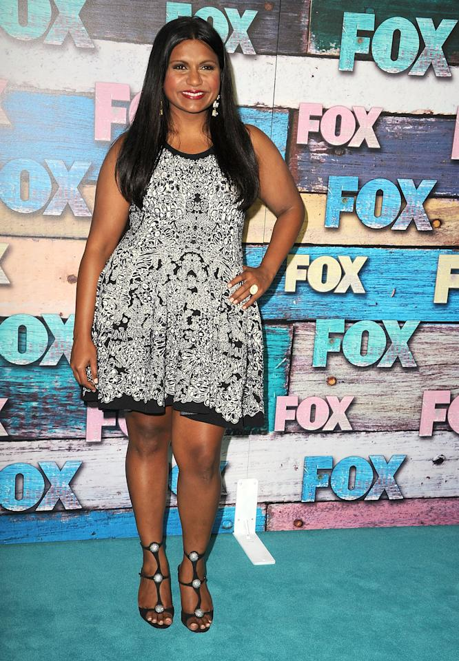 WEST HOLLYWOOD, CA - JULY 23:  Mindy Kaling arrives at the FOX All-Star Party on July 23, 2012 in West Hollywood, California.  (Photo by Steve Granitz/WireImage)