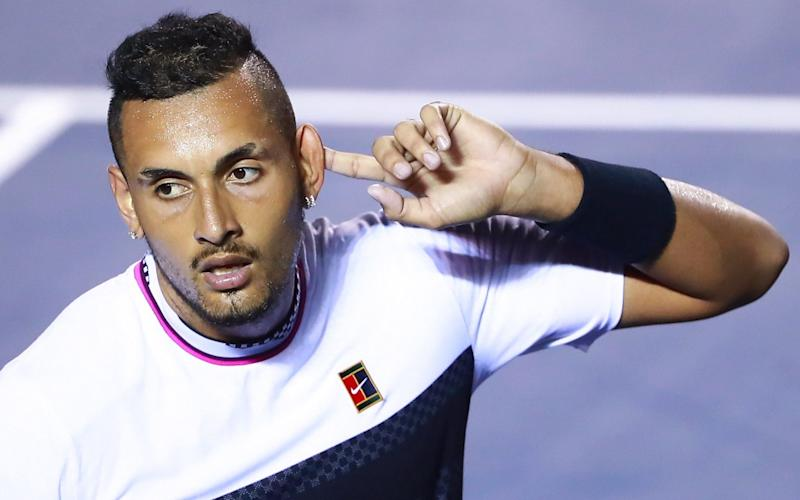 Nick Kyrgios wound up the crowd with his behaviour - Getty Images South America