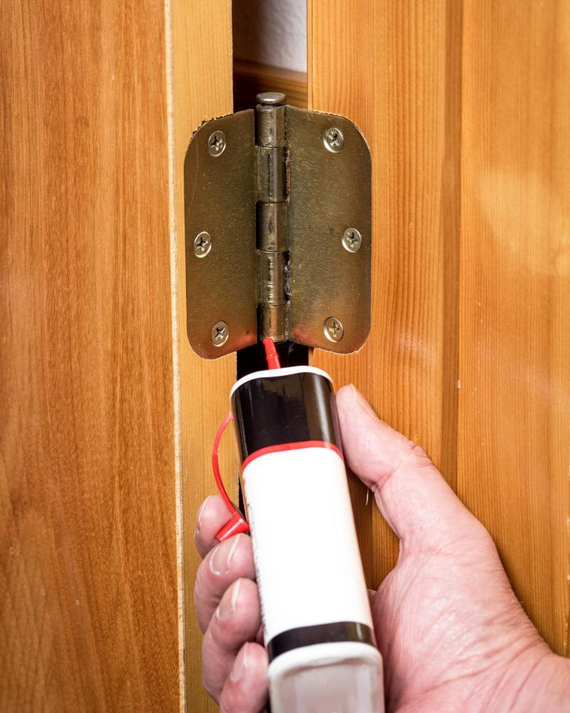 A squeaking door can be easily fixed ...
