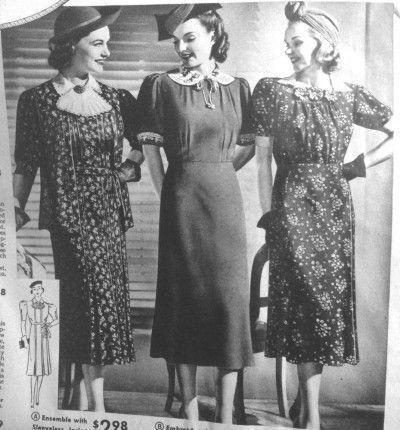 "<p>The 1930s saw a return of a more conservative standard in mom-to-be style. Feminine waistlines and slim figures were very much in vogue, meaning pregnant women relied on small prints and adjustable waistbands to camouflage their ""condition.""</p>"