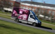 An Ocado delivery van seen driving in Hatfield