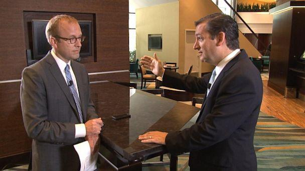 ABC TW jon karl ted cruz jt 130721 16x9 608 Ted Cruz Dismisses Talk of 2016 Presidential Bid While in Iowa