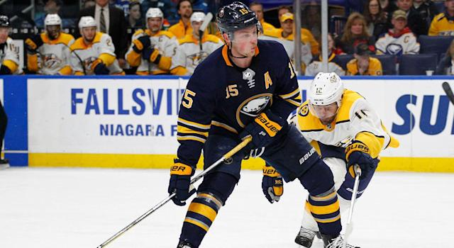 Blues centre Ryan O'Reilly believes Jack Eichel will be a great leader for the rebuilding Sabres. (AP Photo)