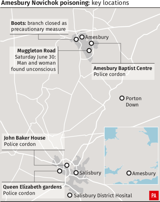 <em>The locations of the latest poisoning in Wiltshire (PA)</em>