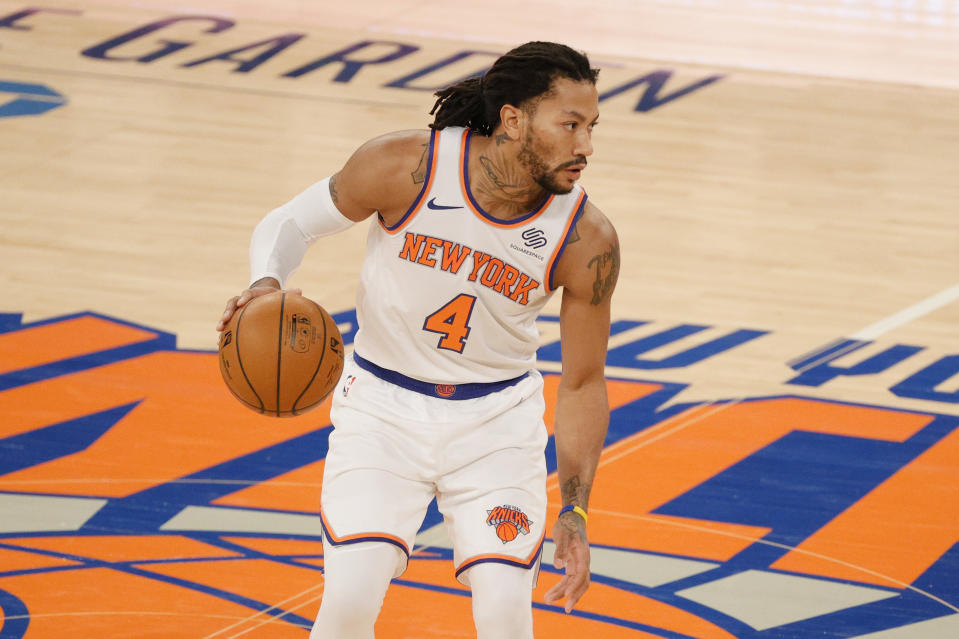 Derrick Rose of the New York Knicks