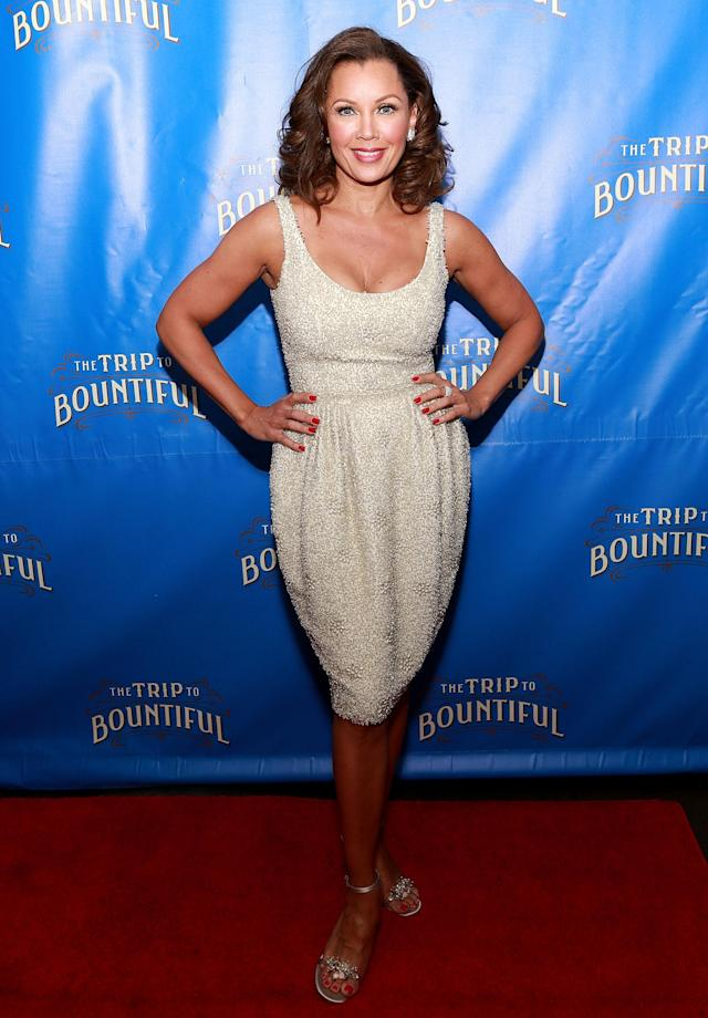 """NEW YORK, NY - APRIL 23: Actress Vanessa Williams attends the after party for the Broadway opening night of """"The Trip To Bountiful"""" at Copacabana on April 23, 2013 in New York City. (Photo by Robin Marchant/Getty Images)"""