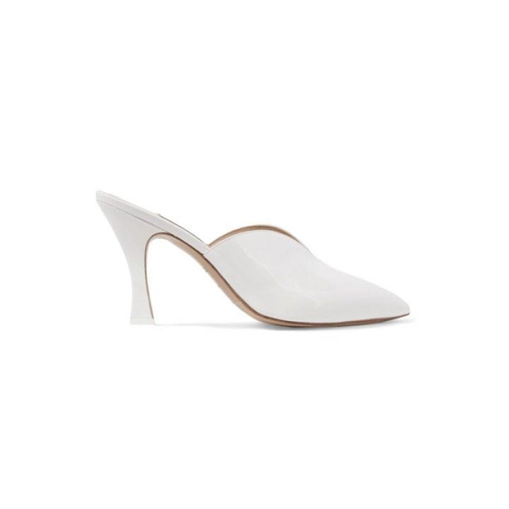 "<p>Attico, Monica patent-leather mules, $550, <a rel=""nofollow"" href=""https://www.net-a-porter.com/us/en/product/864585?mbid=synd_yahoolife"">net-a-porter.com</a></p>"