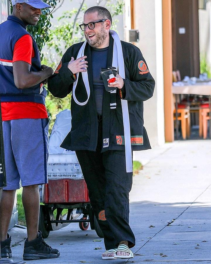 Jonah Hill, ready to sweep the leg.